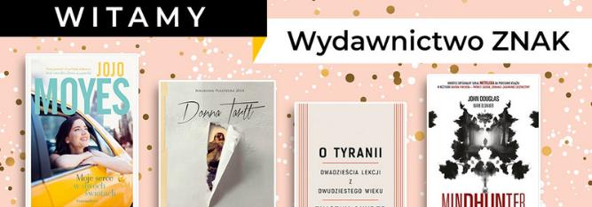 Blog - baner - Witamy wydawnictwo Znak. 5 książek wydawnictwa, po które musisz sięgnąć w pierwszej kolejności